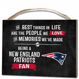Kindred Hearts New England Patriots Best Things Wooden Plaque
