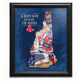 That's My Ticket Boston Red Sox State of Mind New Hampshire Framed Print