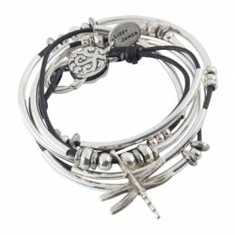 Lizzy James Black Dragonfly Convertible Bracelet