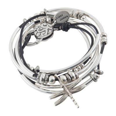 Black Dragonfly Convertible Bracelet