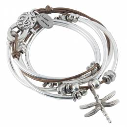 Lizzy James Bronze Dragonfly Convertible Bracelet