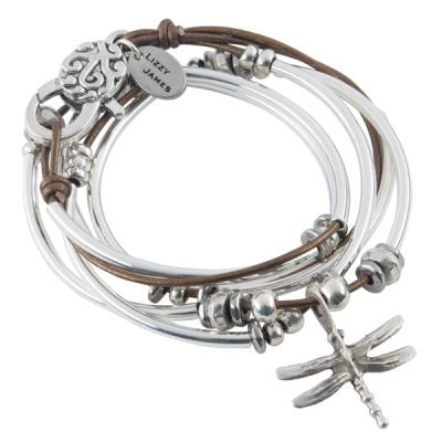 Bronze Dragonfly Convertible Bracelet