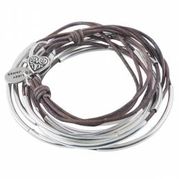 Lizzy James Brown Grey Classic 4-Strand Convertible Bracelet