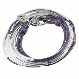 Lizzy James Metallic Berry Classic 4-Strand Convertible Bracelet