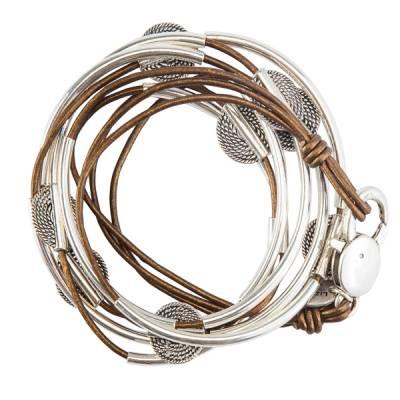 Bronze 3-Strand Disc Bracelet
