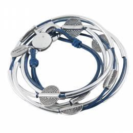 Lizzy James True Blue 3-Strand Disc Bracelet