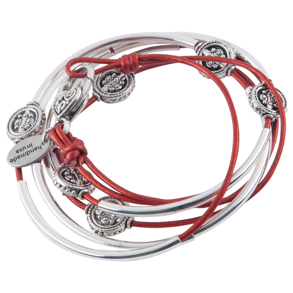 Lizzy James Moroccan Red Kelly Convertible Bracelet