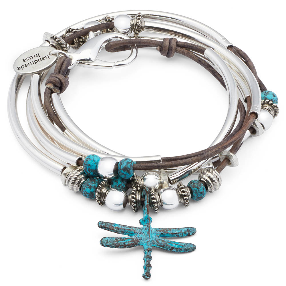 Lizzy James Turquoise Dragonfly Convertible Bracelet