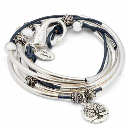 Lizzy James Navy Blue Tree of Life Convertible Bracelet