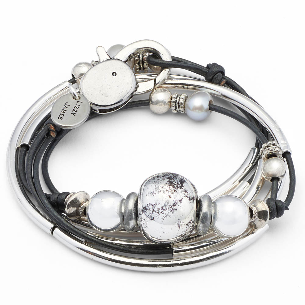 Lizzy James Gunmetal Lonny Convertible Bracelet