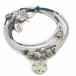 Lizzy James Blue Sand Dollar June Convertible Bracelet