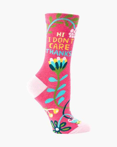 I Don't Care Women's Socks