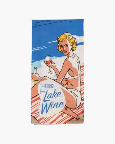 Greetings from Lake Wine Dish Towel