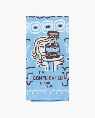 I'm Complicated Thank You Dish Towel