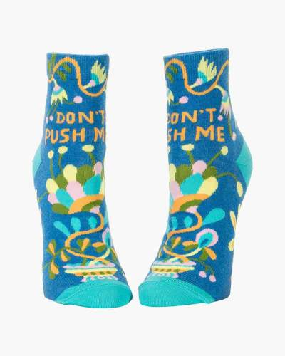 Don't Push Me Women's Ankle Socks