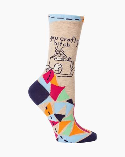You Crafty B-tch Women's Crew Socks