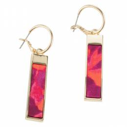 Lily Dilly Reversible Bar Earrings in Wildfire