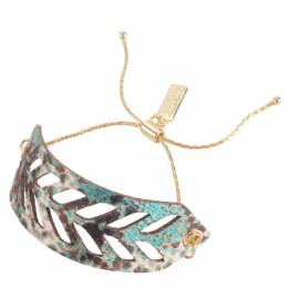 Lily Dilly Reversible Leather Cut Out Bracelet in Everglades