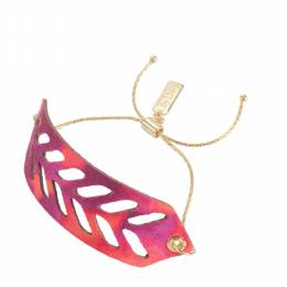 Lily Dilly Reversible Leather Cut Out Bracelet in Wildfire