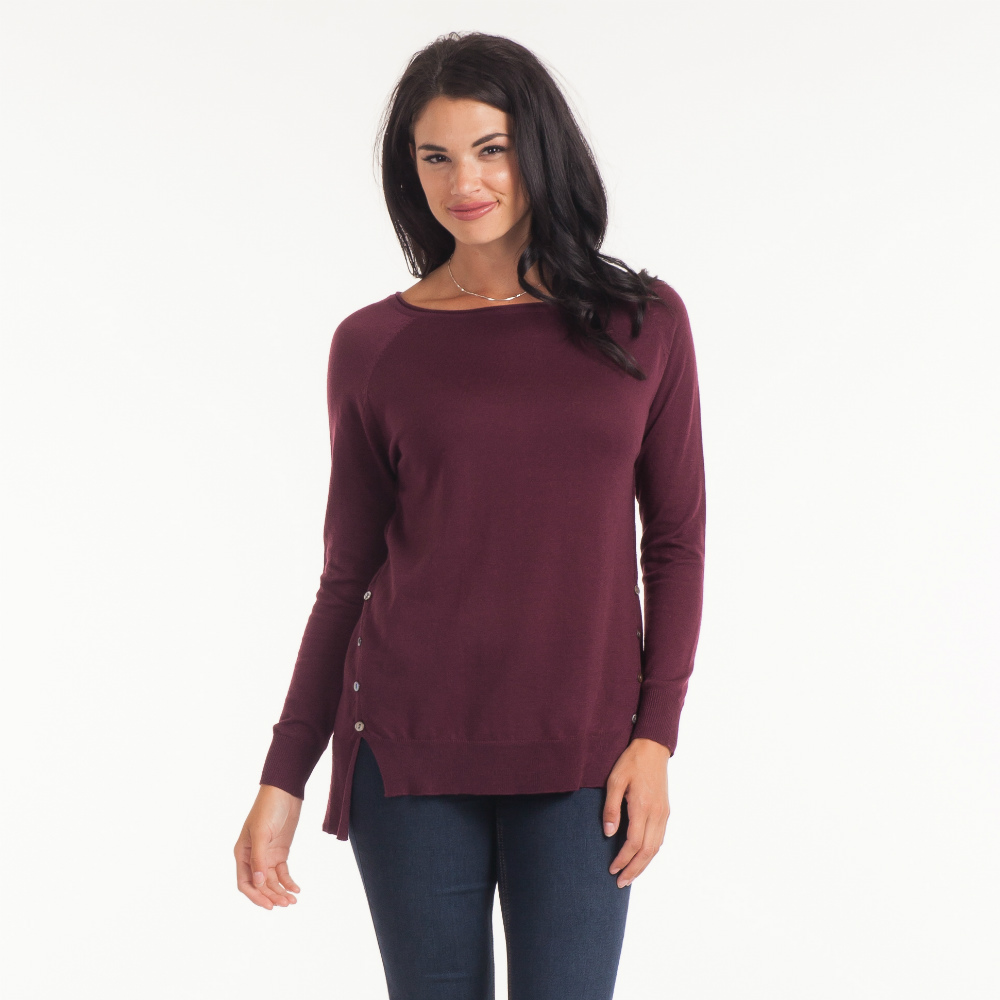 Honey Belle Side-Button Sweater