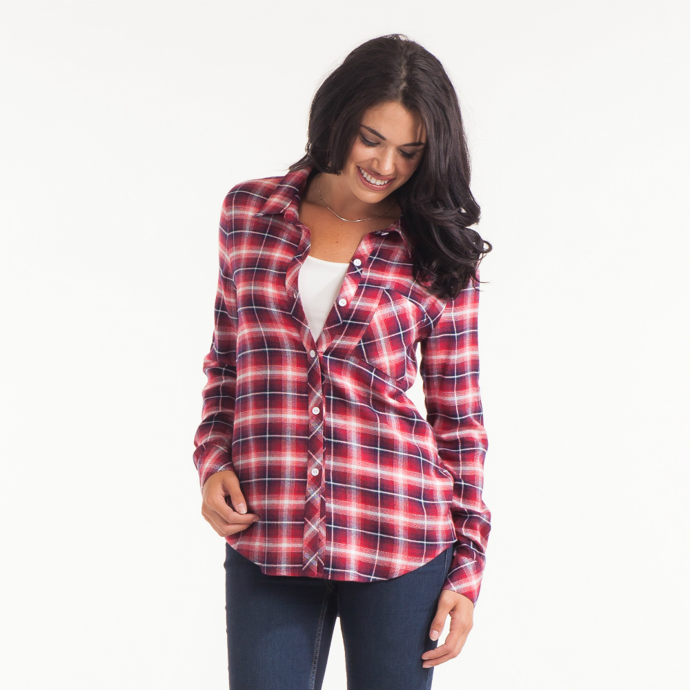 Honey Belle Classic Plaid Shirt