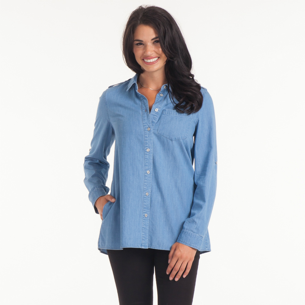 Honey Punch Soft Chambray Shirt