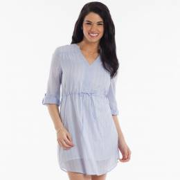 Honey Belle Stripe Chambray Dress