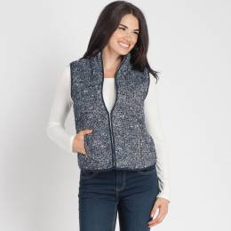 Mia + Tess Designs ™ Tweed Zipper Vest in Navy