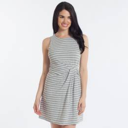 Honey Belle Striped Pleated Waist Dress