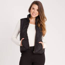 Honey Belle Quilted Faux Shearling Vest