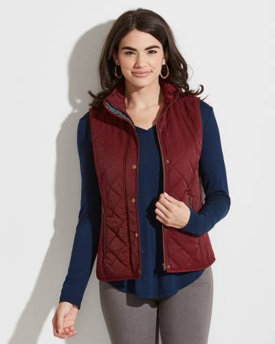 Exclusive Crimson Quilted Vest