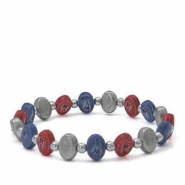 Jacmel Jewelry New England Patriots Beaded Bracelet