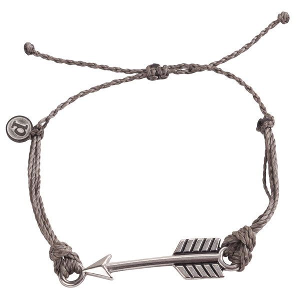 Pura Vida Bracelets Dark Grey Arrow Bracelet
