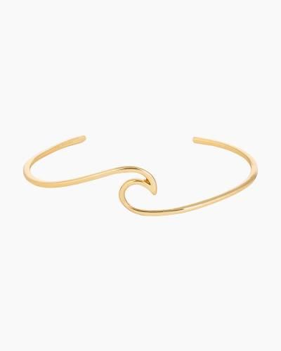 Gold Wave Cuff Bracelet