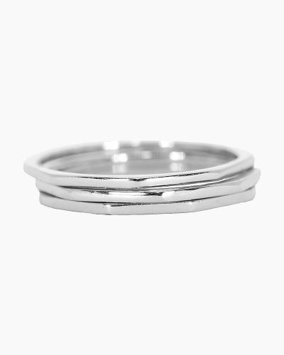 Delicate Stacked Rings in Silver