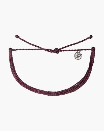 Classic Cord Bracelet in Burgundy