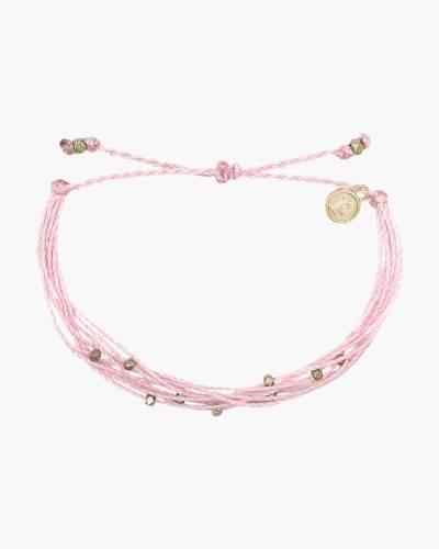 Malibu Bracelet in Gold and Light Pink
