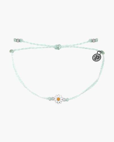 Silver Daisy Bracelet in Winterfresh