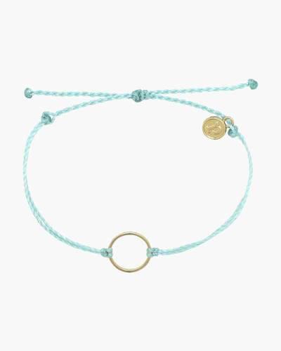 Circle Charm Bracelet in Mint