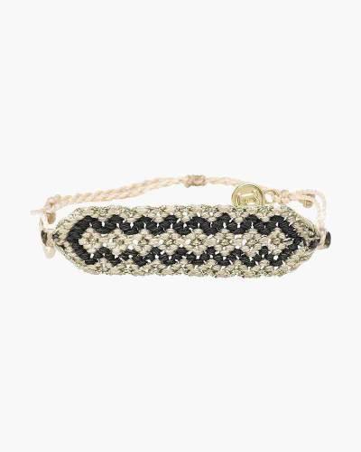 Patterned Friendship Bracelet in Vanilla