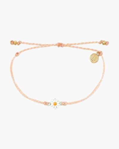 Gold Daisy Bracelet in Blush