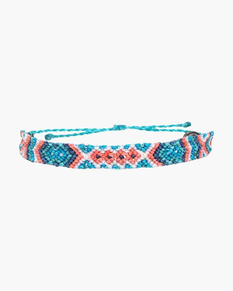 info pour 5bdee fdd46 Friendship Macrame Bracelet in Pacific Blue