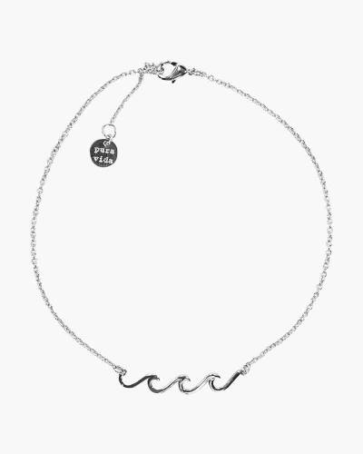 Delicate Wave Anklet in Silver