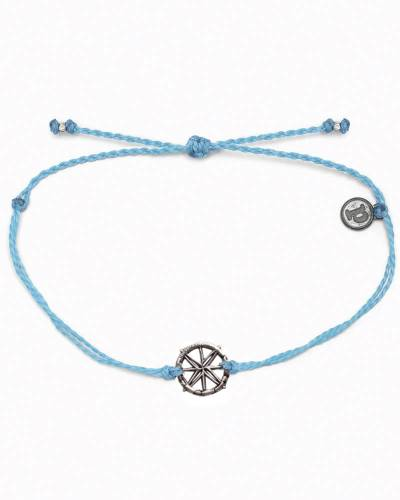 Exclusive Compass Charm Bracelet in Pale Blue
