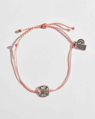 Exclusive Compass Charm Bracelet in Pink