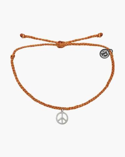 Peace Charm Bracelet in Orange