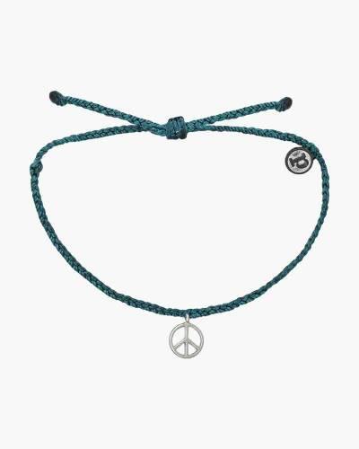 Peace Charm Bracelet in Green