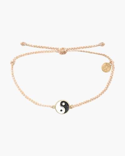 Yin Yang Charm Bracelet in Vanilla