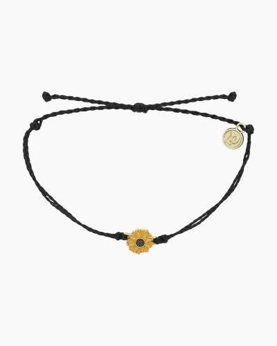 Sunflower Charm Bracelet in Black