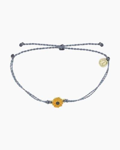 Sunflower Charm Bracelet in Blue